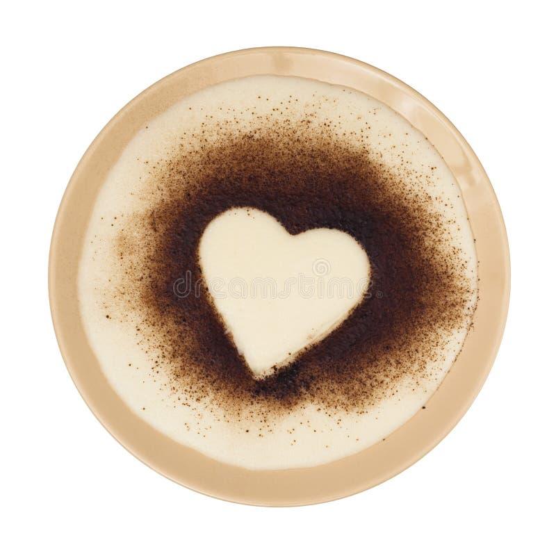 Месиво манной крупы с какао в форме сердц стоковая фотография rf
