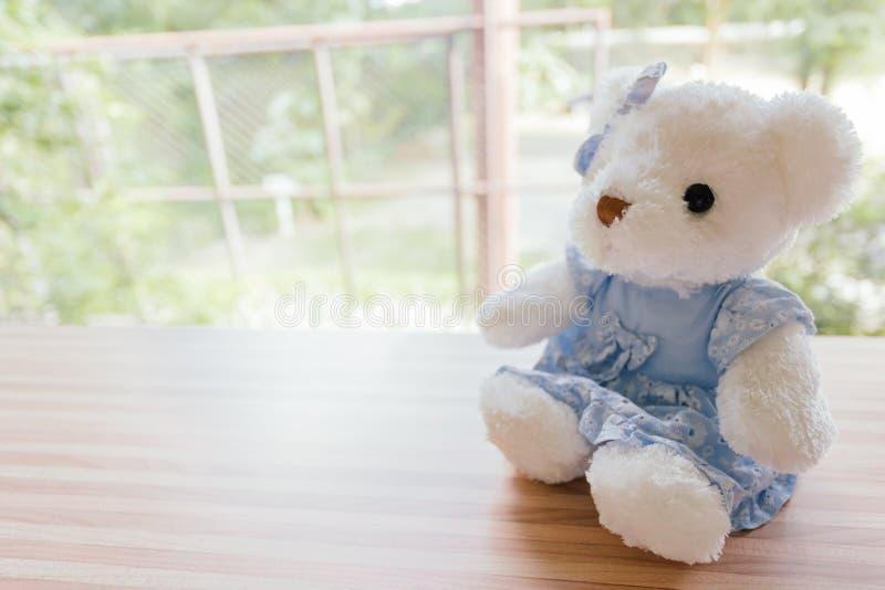 Места балкона медведя сиротливые в кофейне стоковая фотография rf