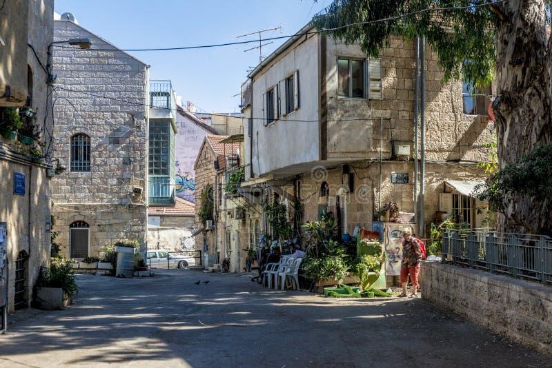 Места ИЕРУСАЛИМА туристские в центре города Центральные улицы стоковые изображения
