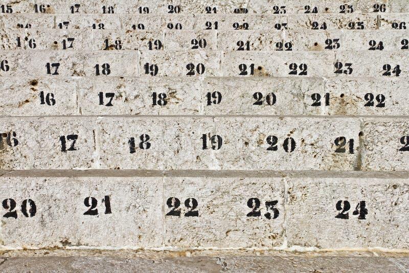 места номера арены стоковое изображение