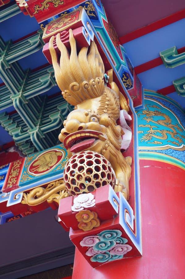 Местная китайская традиционная архитектура: богато орнаментированное здание стоковое изображение rf