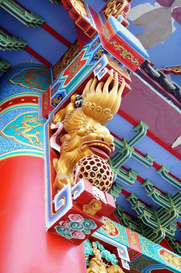 Местная китайская традиционная архитектура: богато орнаментированное здание стоковое фото