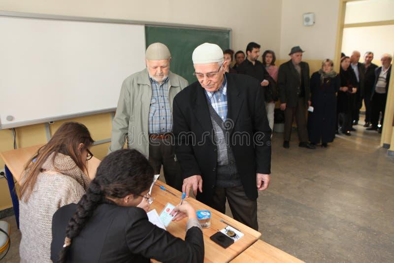 Местные выборы в Турции. стоковая фотография