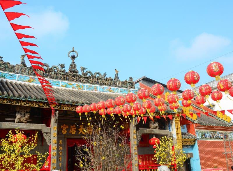 Местный висок в перепаде Меконга стоковая фотография rf