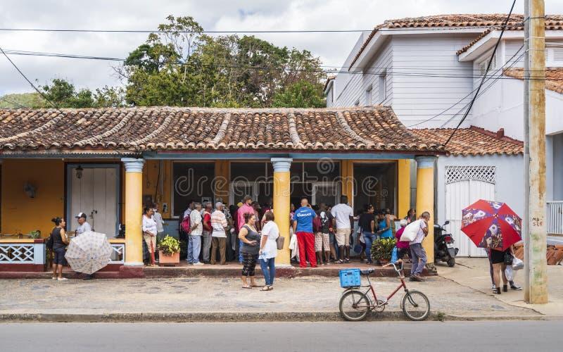 Местный магазин торта в Vinales, ЮНЕСКО, провинции Pinar del Rio, Кубе, Вест-Индиях, Вест-Инди, Центральной Америке стоковая фотография rf