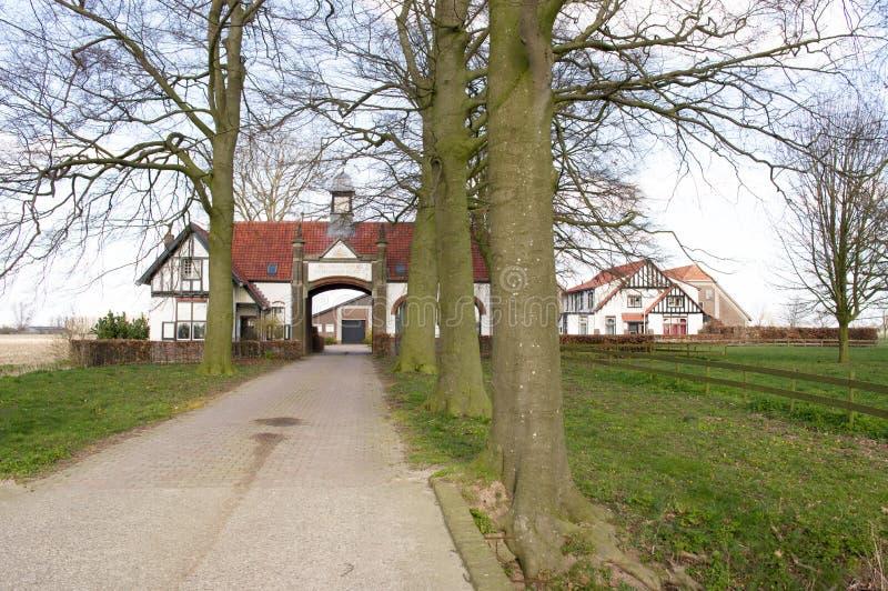Местоположение Word war 2, поместье Schonderlogt стоковые фотографии rf