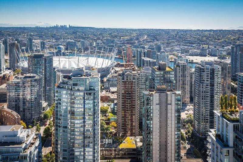 Место Ванкувера городское Канады ДО РОЖДЕСТВА ХРИСТОВА стоковое изображение rf