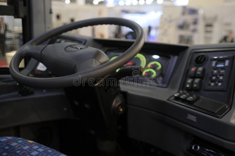 Место водителя автобуса стоковые фото
