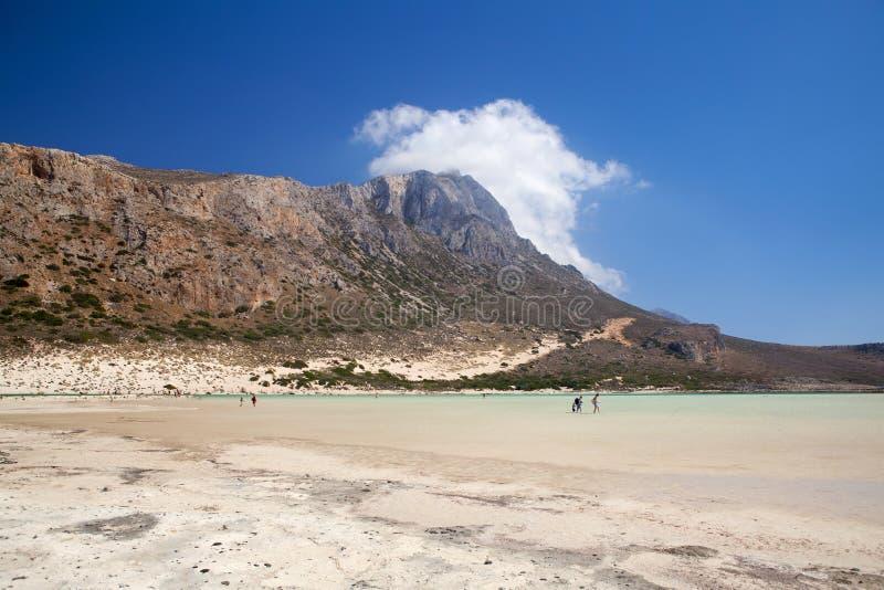 Ландшафт Balos Креты, Греции стоковые изображения rf