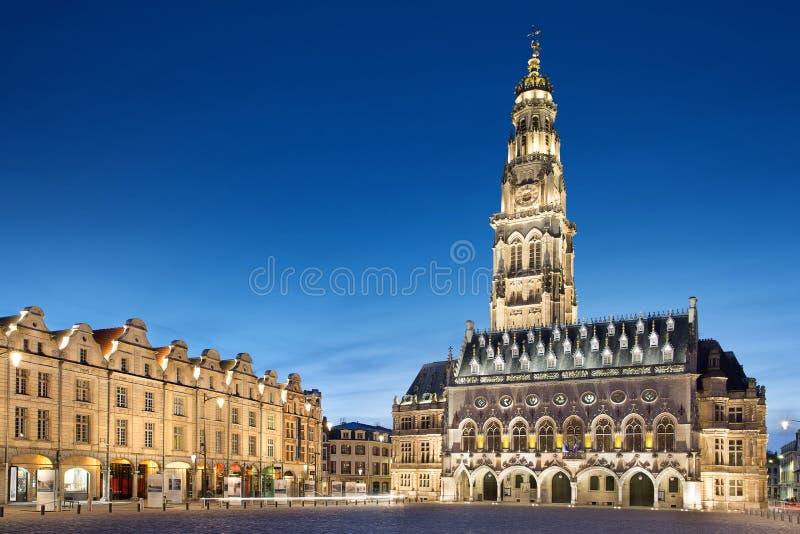 Место героев в аррасе, Франции стоковое изображение rf