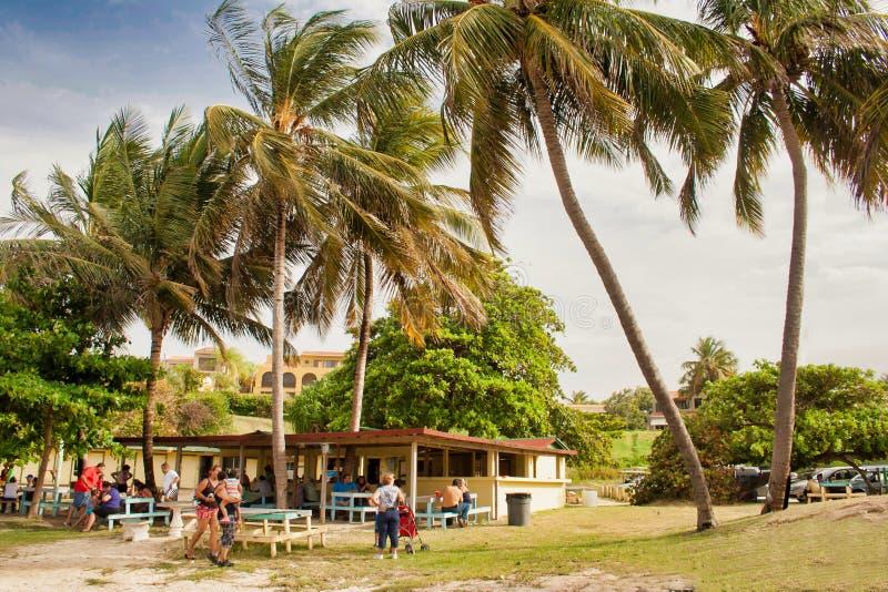 Место для закусок на пляже стоковое изображение rf