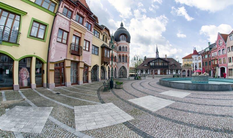 Место Европы в городе Komarno, Словакии стоковое изображение rf