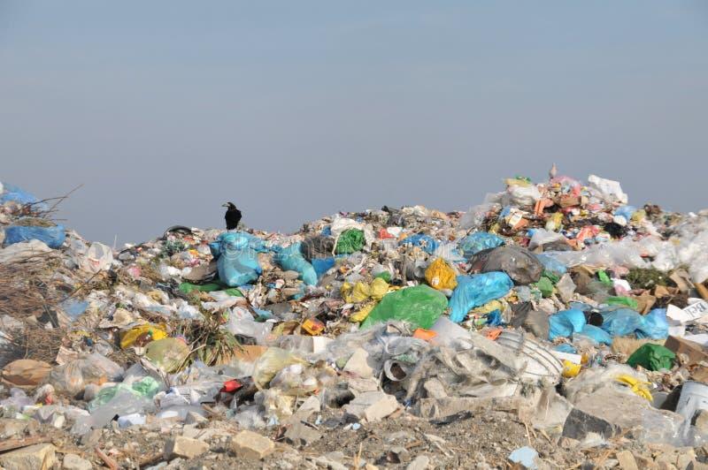 место захоронения отходов стоковое изображение rf