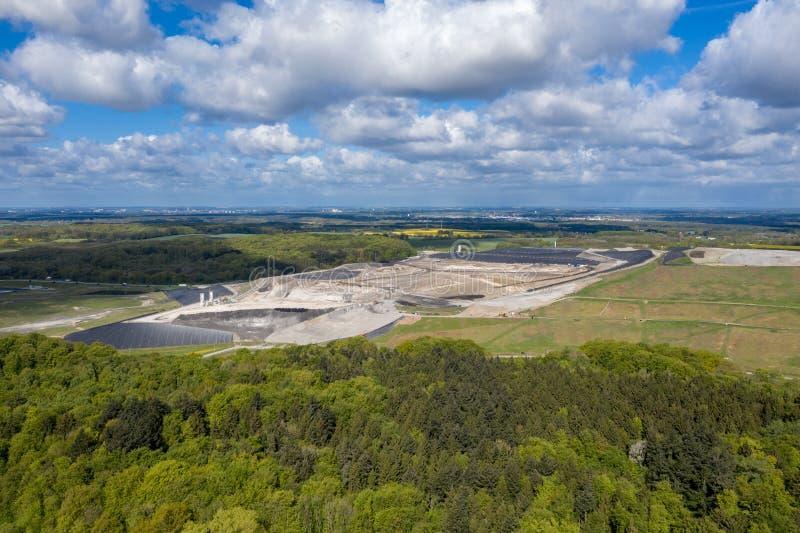Место захоронения отходов Ihlenberg ядовитых отходов Европы самое большое на севере Германии стоковое фото