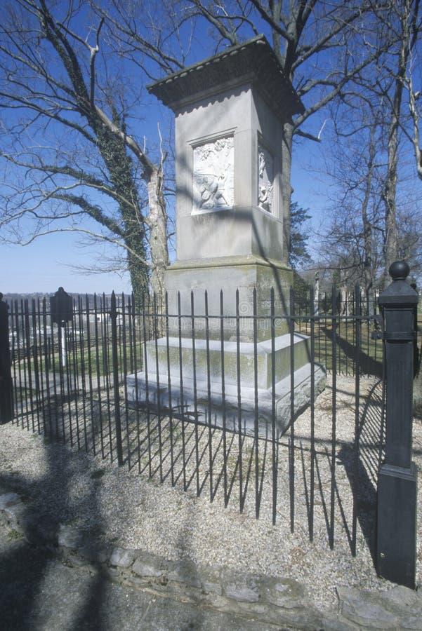 Место захоронения Daniel Boone, Франкфурта, KY стоковые фотографии rf