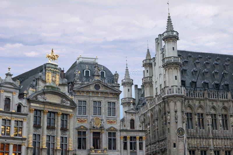 место зданий brussels грандиозное богато украшенный стоковое изображение rf