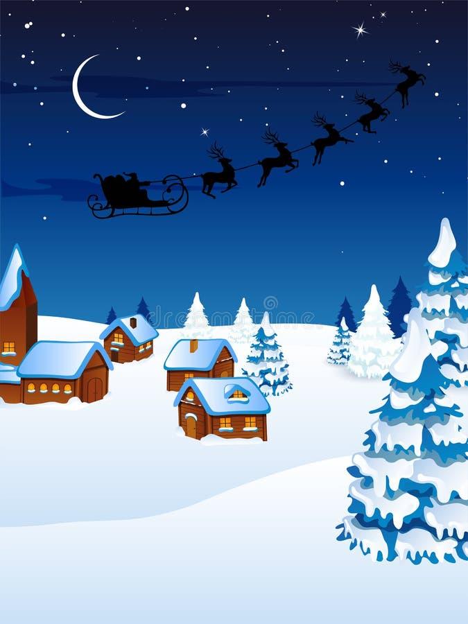 Место зимы - рождественская открытка бесплатная иллюстрация