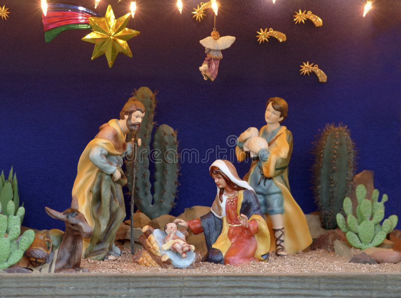 место кормушки рождества стоковые фотографии rf