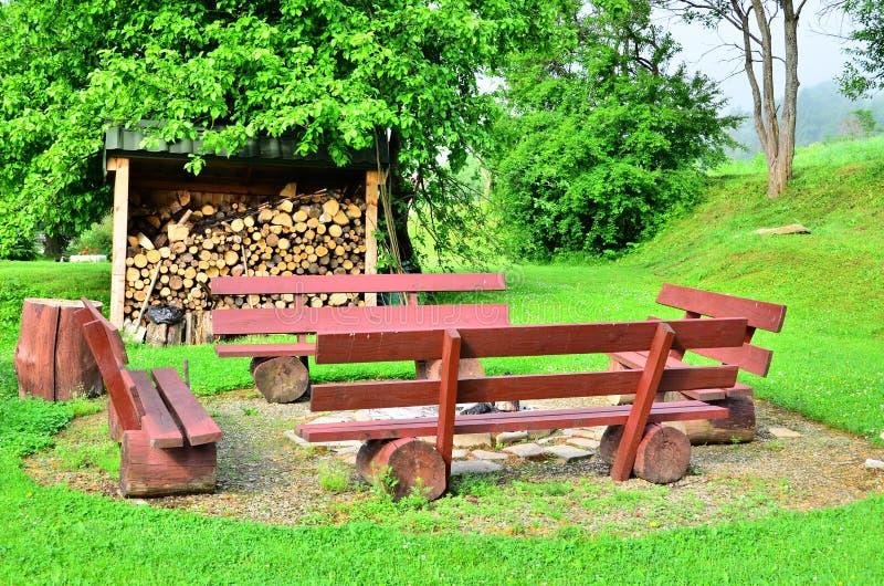 место лагерного костера стоковая фотография