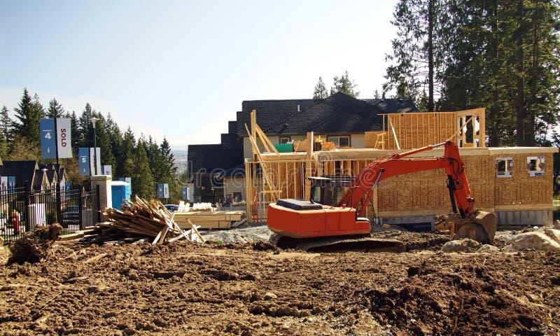 Место нового строительства стоковое фото