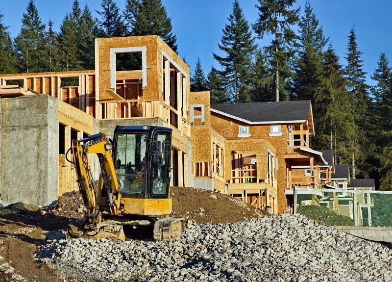 Место нового строительства стоковое фото rf