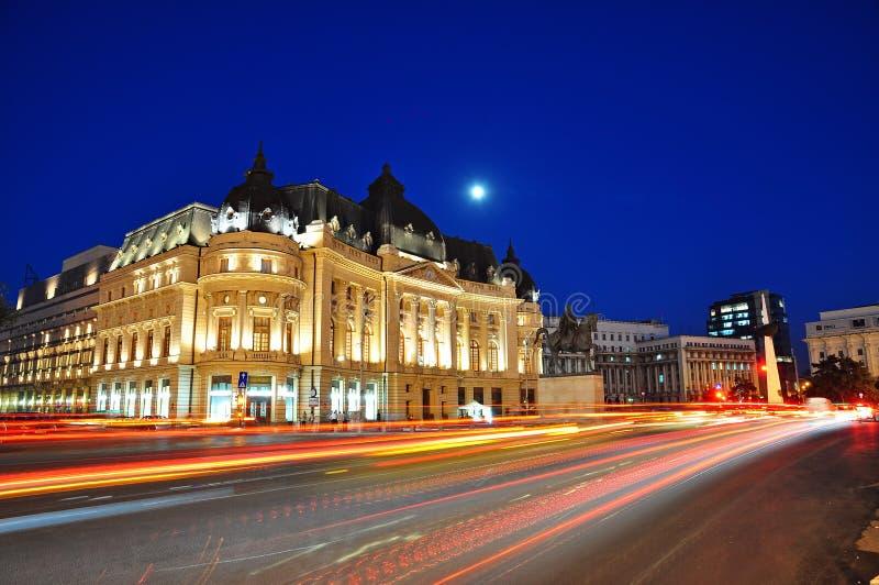 Место ночи Бухарест стоковые фотографии rf