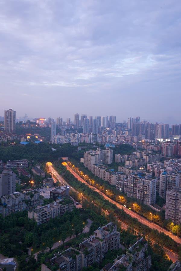 Место ночи города, chongqing, фарфор стоковое фото rf