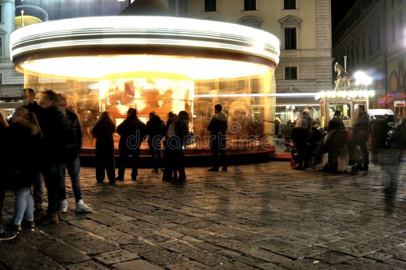 Место ночи на улицах Флоренса, Италии стоковое изображение rf