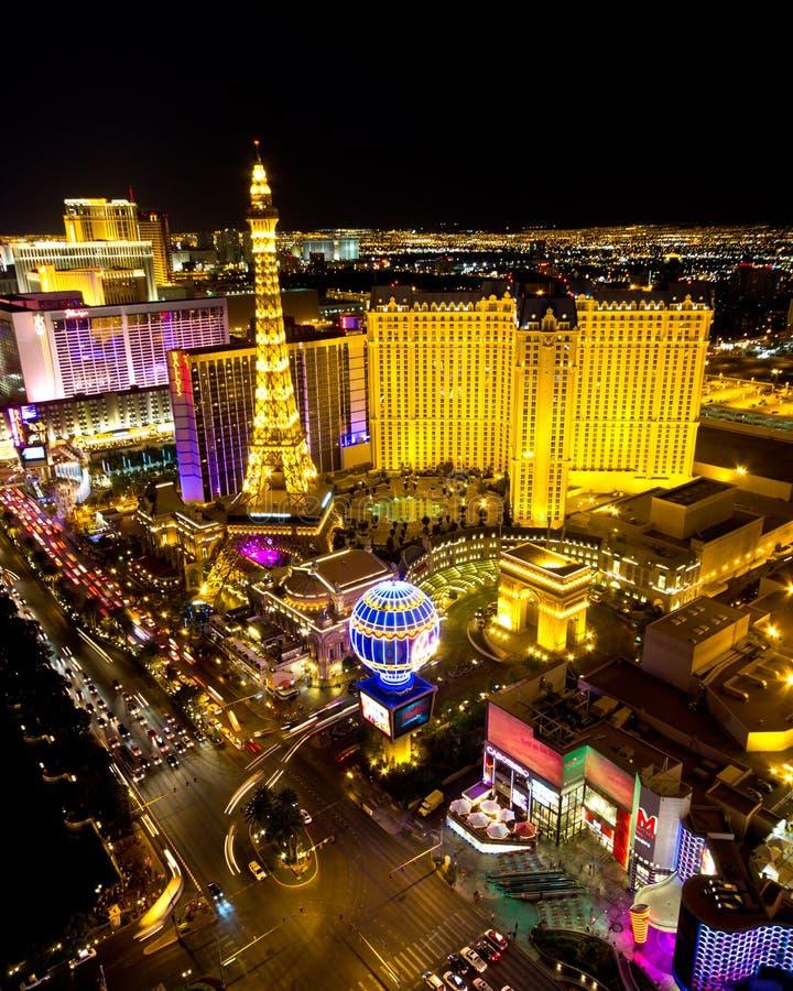 Место ночи прокладки Las Vegas стоковая фотография