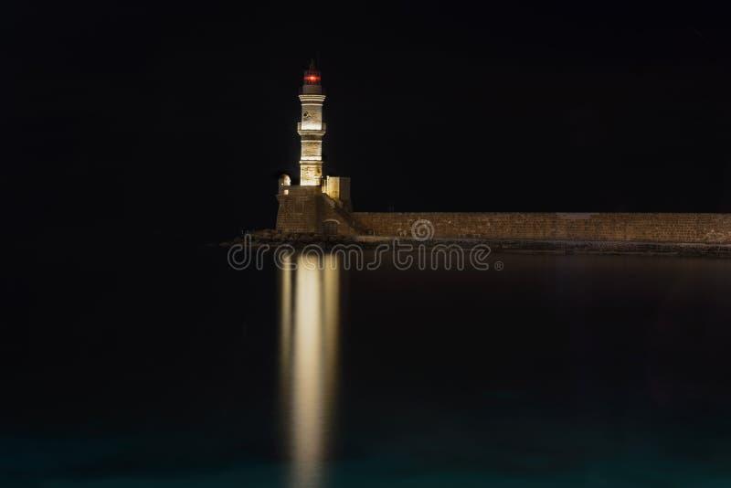место ночи лунного света маяка стоковые изображения rf