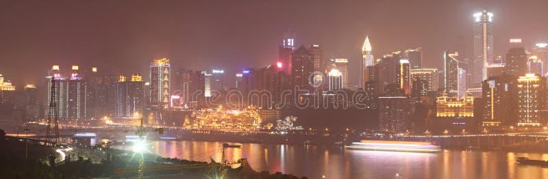 место ночи chongqing стоковое фото rf