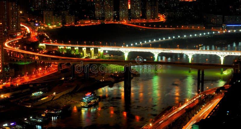 место ночи chongqing стоковая фотография rf