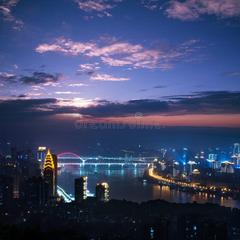 Место ночи Chongqing стоковое изображение