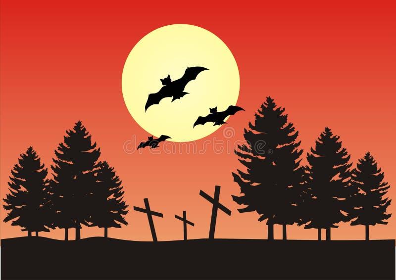место ночи halloween бесплатная иллюстрация