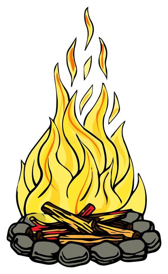 Место огня иллюстрация штока