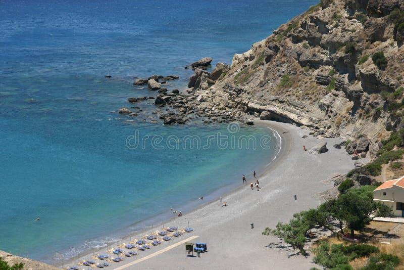 место острова Крита пляжа стоковые изображения rf