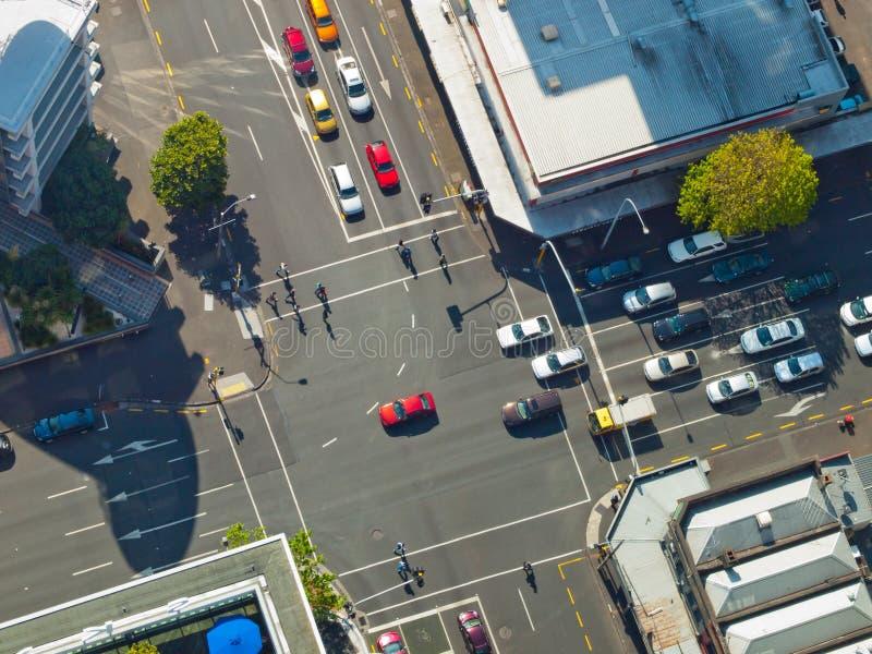 Место перекрестка города стоковые фотографии rf