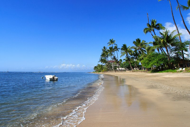 место пляжа тропическое стоковое изображение