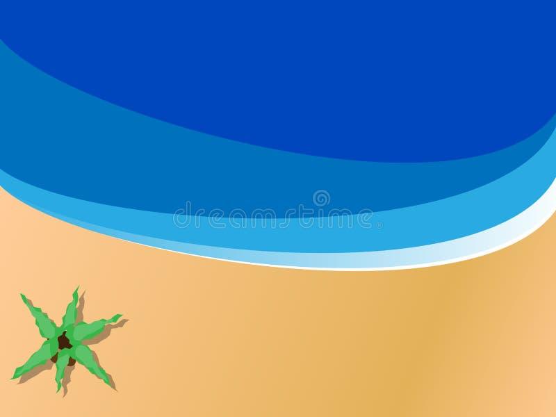 место пляжа иллюстрация вектора