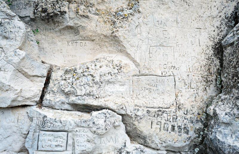 Место положения скалы регистра историческое стоковые изображения