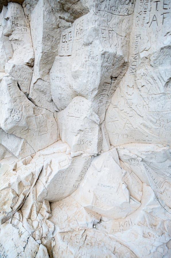 Место положения скалы регистра историческое стоковая фотография