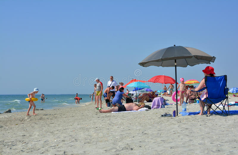 Место пляжа Corbu, молчаливого и виргинских в Румынии стоковые фотографии rf