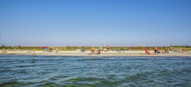 Место пляжа Corbu, молчаливого и виргинских в Румынии стоковое изображение
