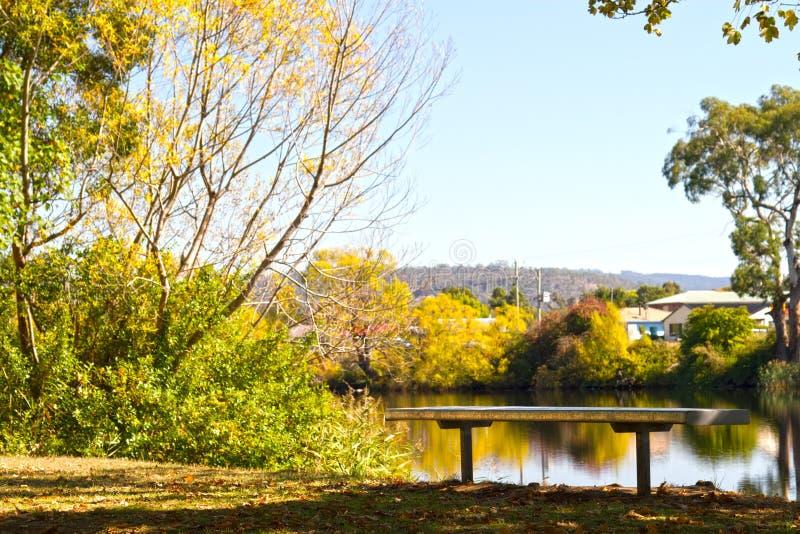 место реки стенда стоковое фото rf