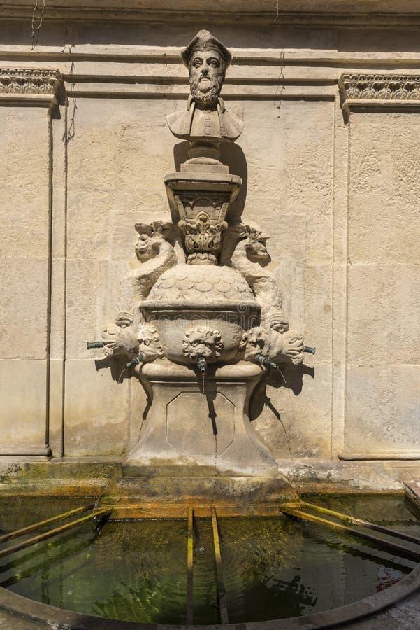 Место рождения St-Remy-de-Провансали Nostradamus стоковые изображения rf