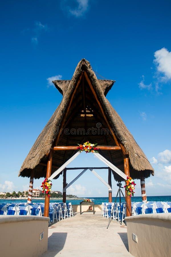 Место свадебной церемонии назначения стоковое изображение rf