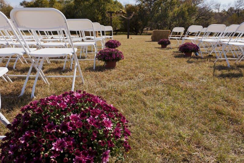 Место свадьбы в природе стоковые фото