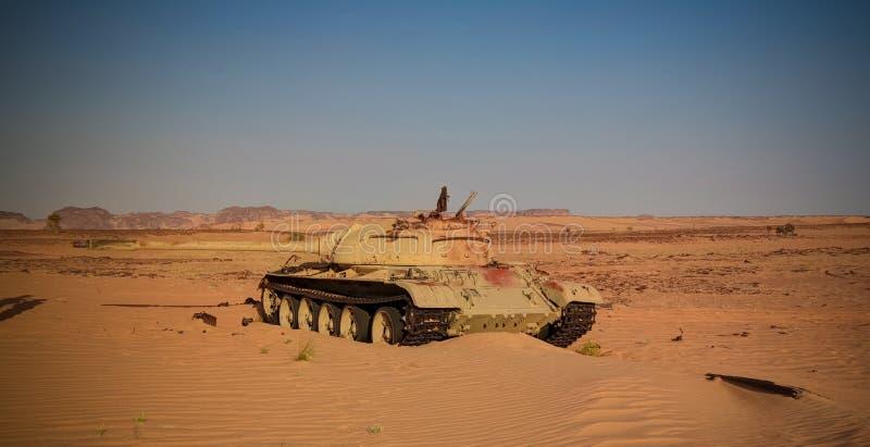 Место сражения на Bir Kora во время чадской ливийской войны конфликта aka на 1987 в Ennedi, Чад стоковое фото rf