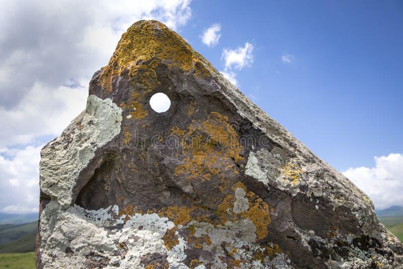 Место Стоунхенджа армянке вызвало Karahunj стоковое изображение rf
