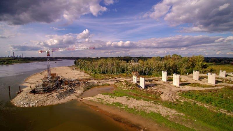 Место строительства моста в Варшаве стоковая фотография